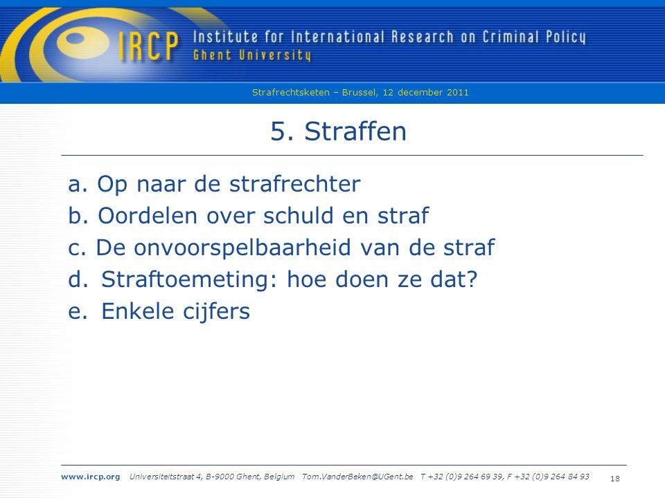 www.ircp.org Universiteitstraat 4, B-9000 Ghent, Belgium Tom.VanderBeken@UGent.be T +32 (0)9 264 69 39, F +32 (0)9 264 84 93 Strafrechtsketen – Brussel, 12 december 2011 18 5.