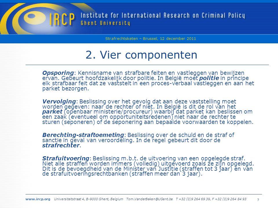 www.ircp.org Universiteitstraat 4, B-9000 Ghent, Belgium Tom.VanderBeken@UGent.be T +32 (0)9 264 69 39, F +32 (0)9 264 84 93 Strafrechtsketen – Brussel, 12 december 2011 8 3.