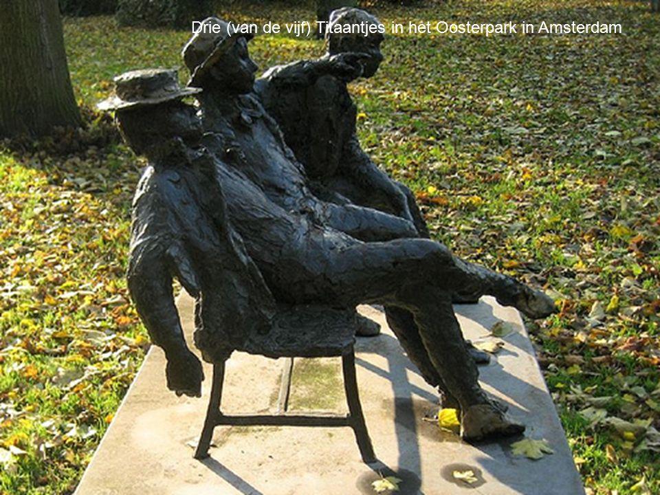 Drie (van de vijf) Titaantjes in het Oosterpark in Amsterdam