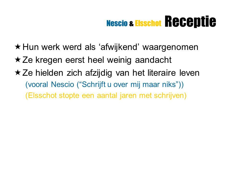 Geert van Istendael over Nescio (over beperkte canonisering)