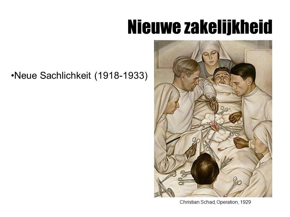 Nieuwe zakelijkheid Christian Schad, Operation, 1929 Neue Sachlichkeit (1918-1933)
