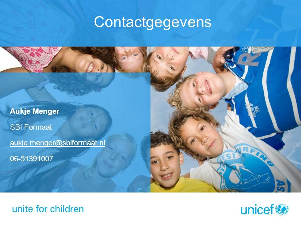 Contactgegevens Aukje Menger SBI Formaat aukje.menger@sbiformaat.nl 06-51391007
