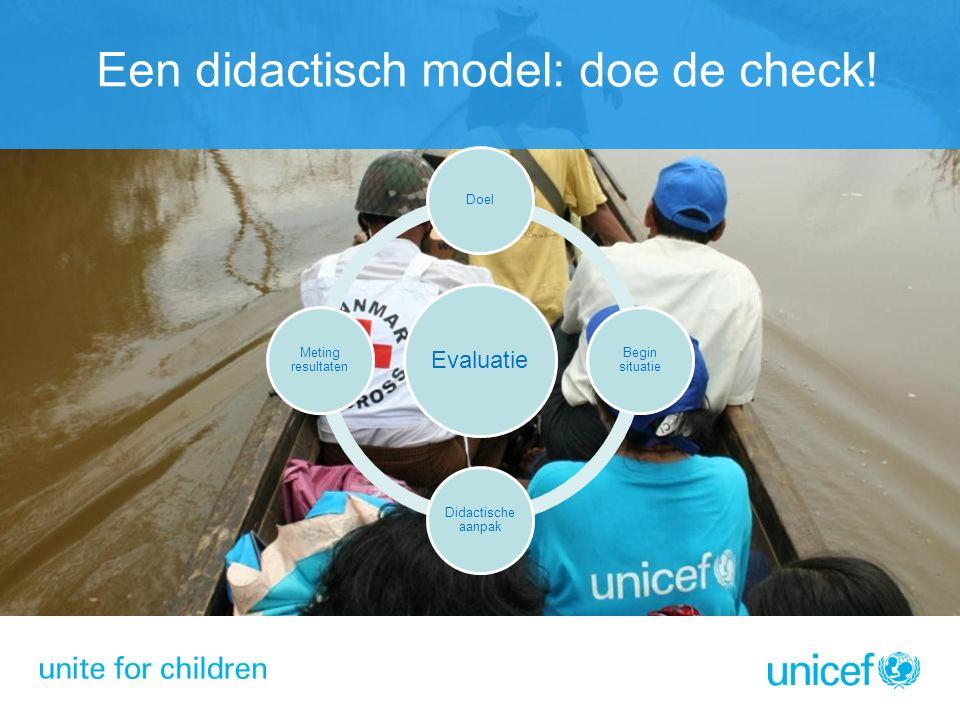 Een didactisch model: doe de check.
