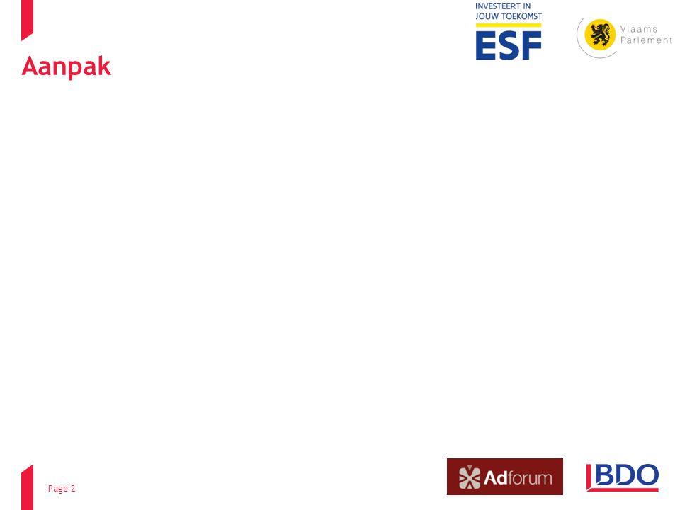 Aanpak Page 2 ESF – Stuurgroep 1 FASE 2 - 20 jun 2014