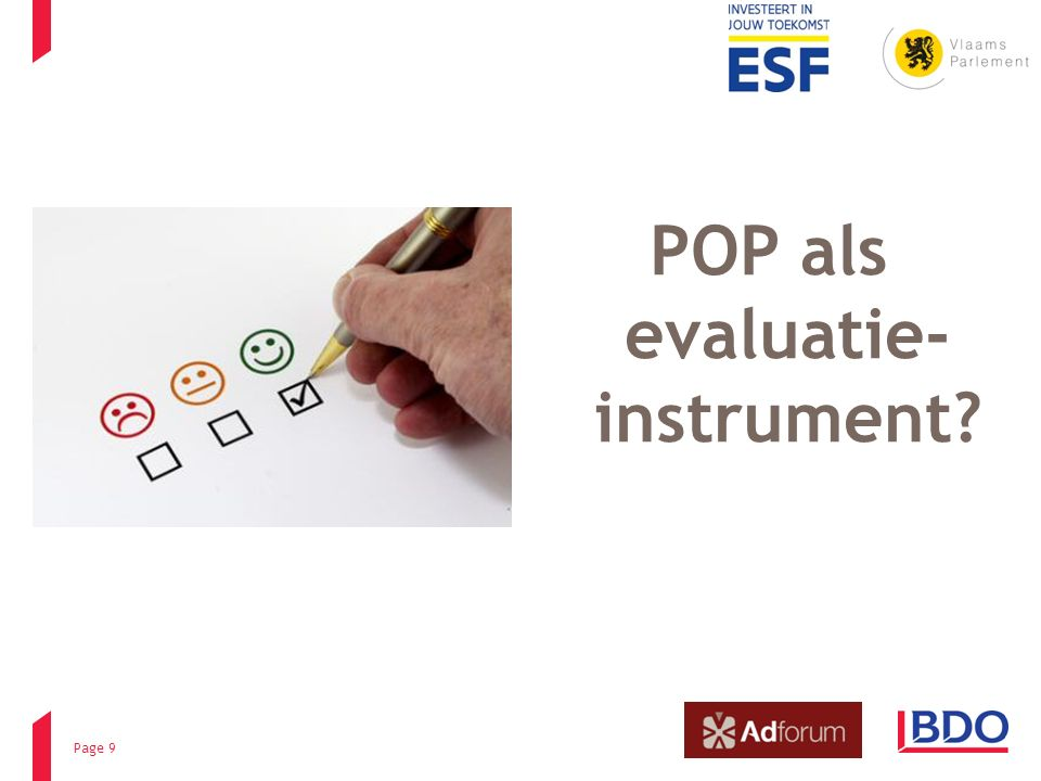 POP als evaluatie- instrument Page 9