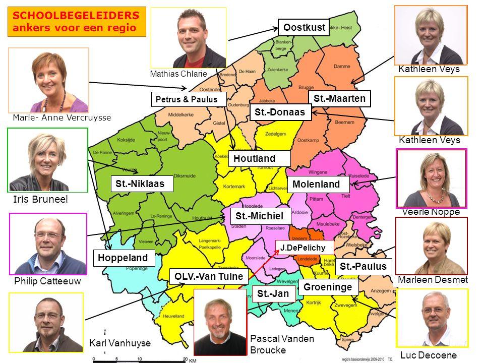SCHOOLBEGELEIDERS ankers voor een regio Oostkust Houtland Mathias Chlarie Kathleen Veys St.-Maarten Molenland Veerle Noppe Marleen Desmet St.-Paulus L
