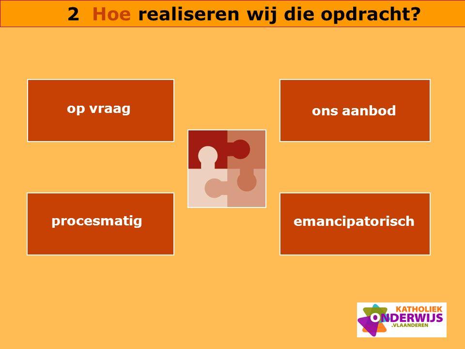 op vraag ons aanbod procesmatig emancipatorisch 2 Hoe realiseren wij die opdracht?