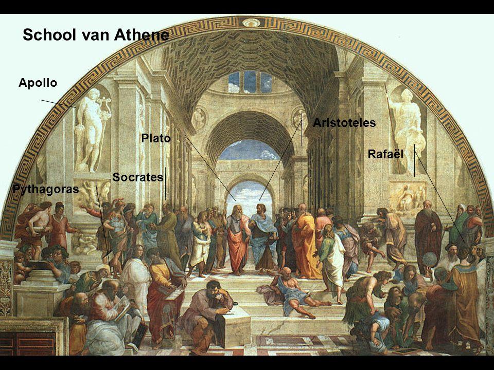 School van Athene Plato Aristoteles Rafaël Pythagoras Socrates Apollo