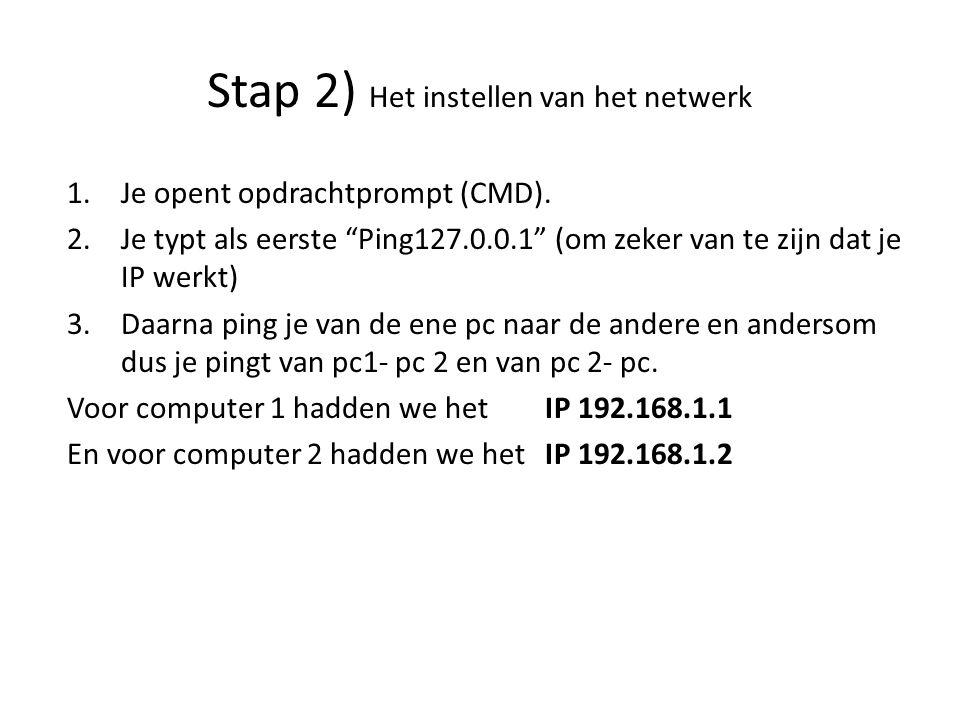 1.Je opent opdrachtprompt (CMD).