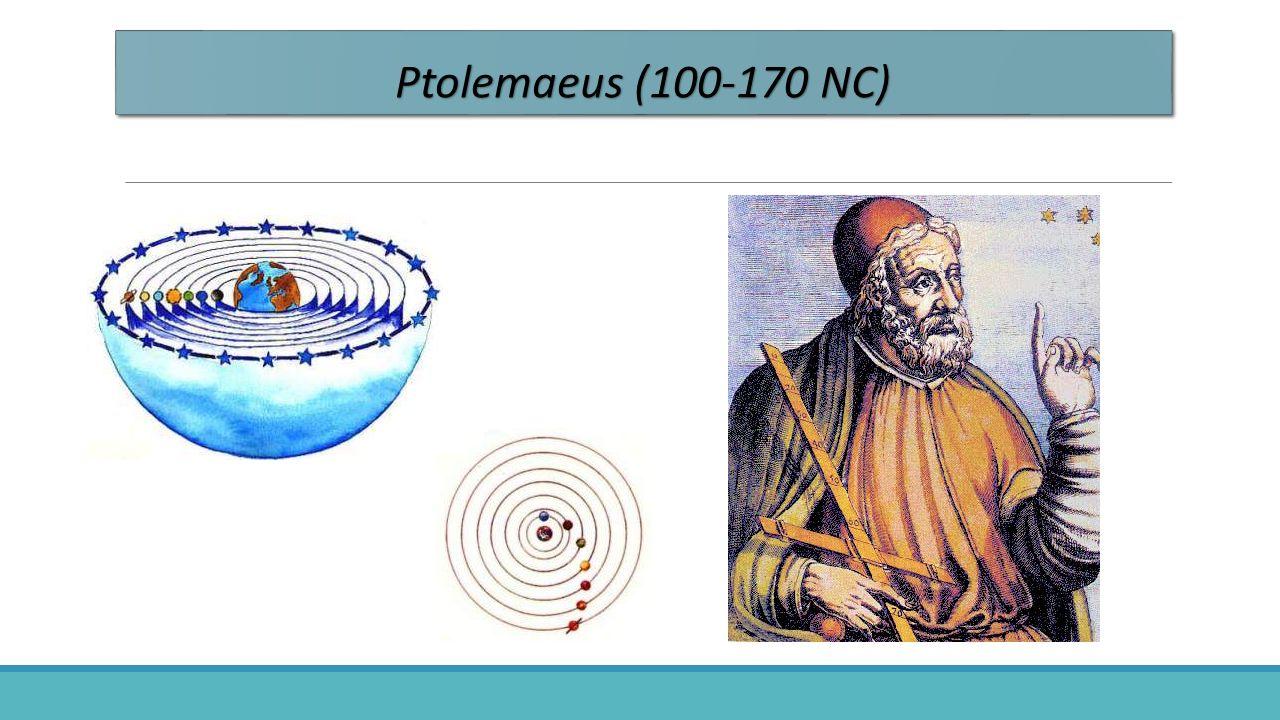 Ptolemaeus & Copernicus De stand van de wetenschap was zo, dat men de ideeën van Ptolemaeus over bewegingen der sterren tot 1500 omarmde.