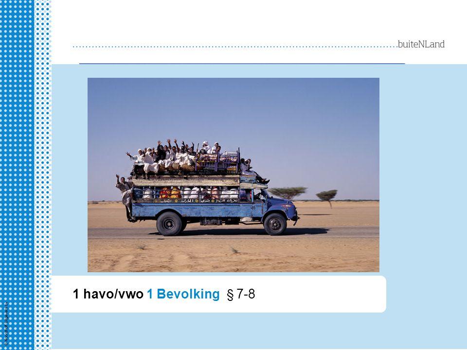 1 havo/vwo 1 Bevolking § 7-8