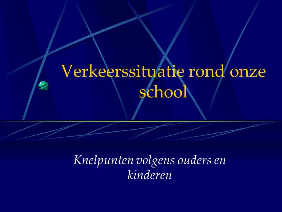Verkeerssituatie rond onze school Knelpunten volgens ouders en kinderen