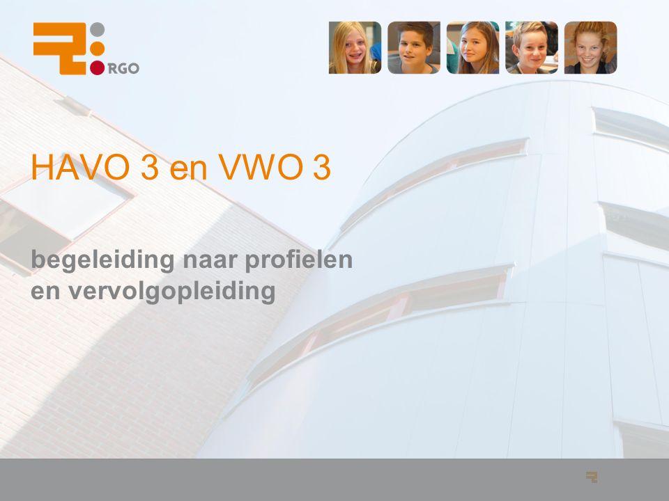 HAVO 3 en VWO 3 begeleiding naar profielen en vervolgopleiding