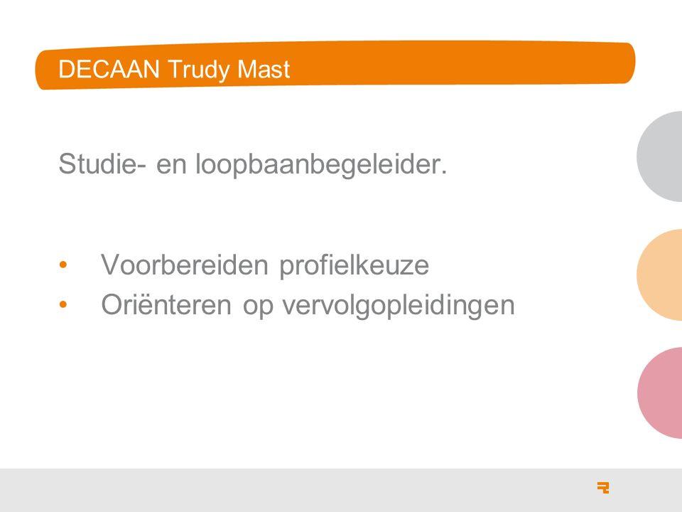 DECAAN Trudy Mast Studie- en loopbaanbegeleider.