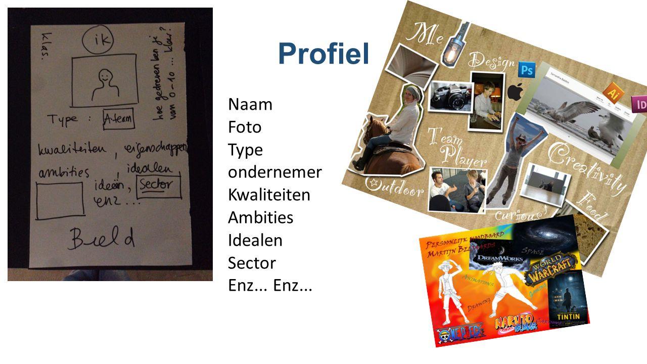 Profiel Naam Foto Type ondernemer Kwaliteiten Ambities Idealen Sector Enz...
