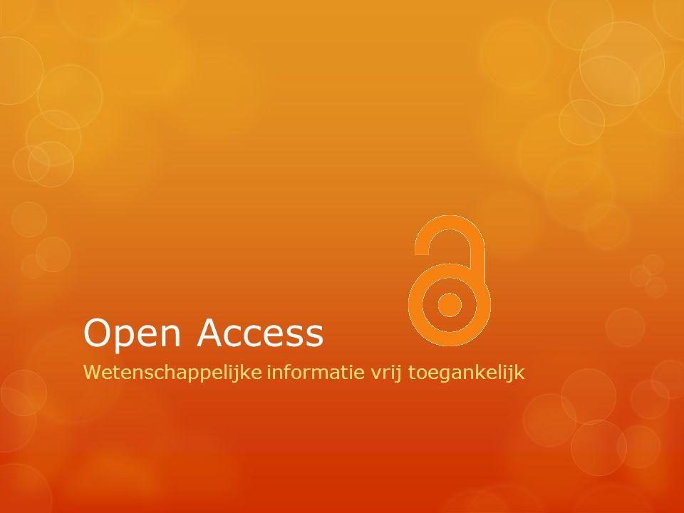 Open Access Wetenschappelijke informatie vrij toegankelijk