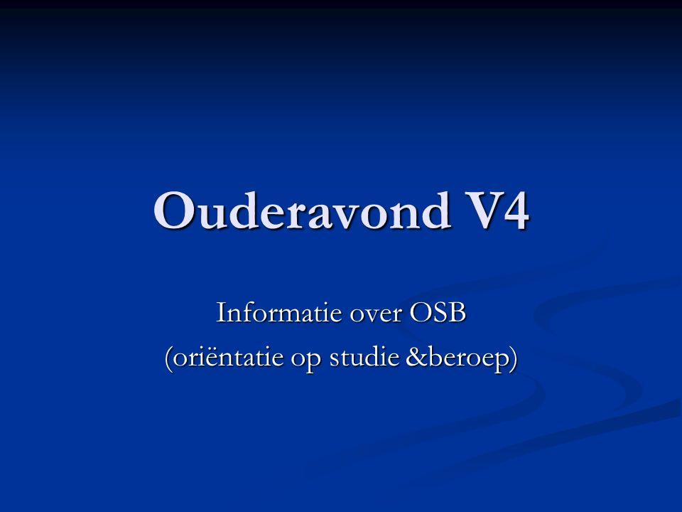 Ouderavond V4 Informatie over OSB (oriëntatie op studie &beroep)