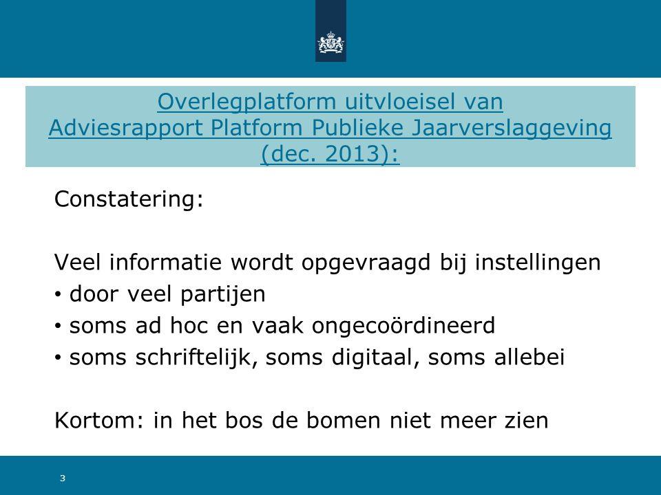 Overlegplatform uitvloeisel van Adviesrapport Platform Publieke Jaarverslaggeving (dec.