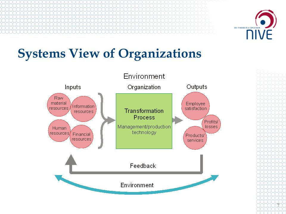 Systems View of Organizations 7