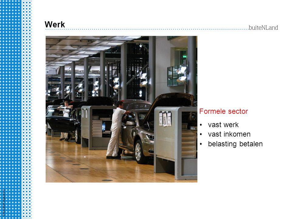 Werk vast werk vast inkomen belasting betalen Formele sector