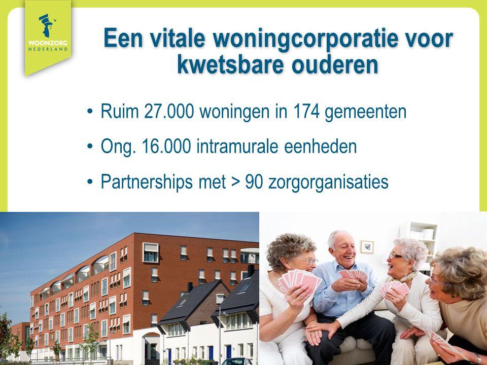 Woonzorg Zekerheid Samenzijn Rust Comfort Vrijheid Aanpak Een vitale woningcorporatie voor kwetsbare ouderen Ruim 27.000 woningen in 174 gemeenten Ong.