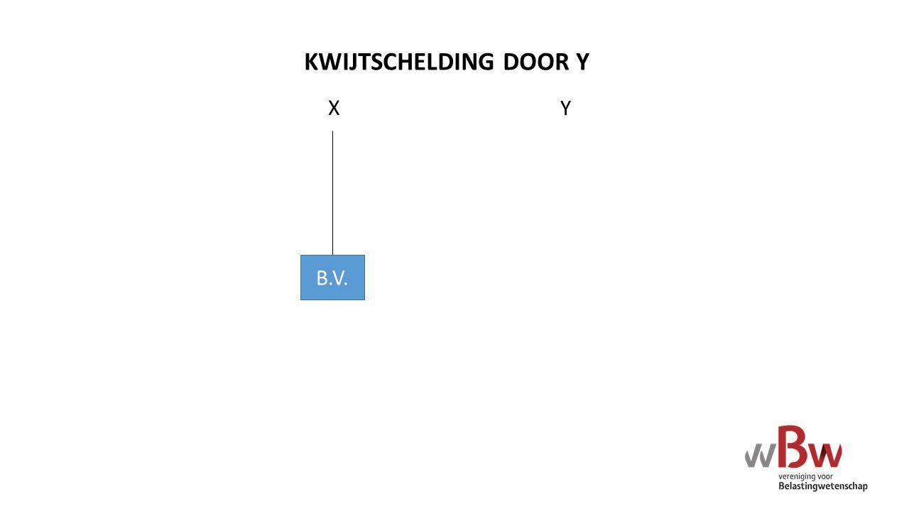 B.V. X KWIJTSCHELDING DOOR Y Y