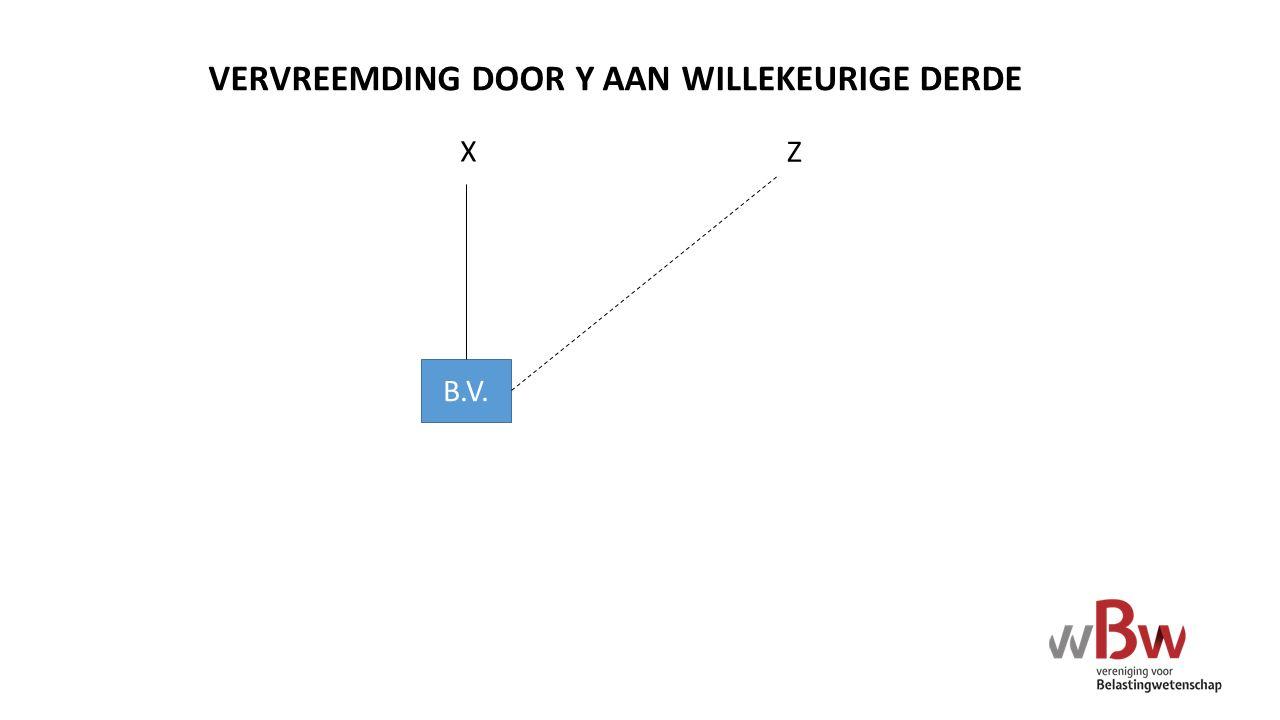 VERVREEMDING DOOR Y AAN WILLEKEURIGE DERDE B.V. X Z