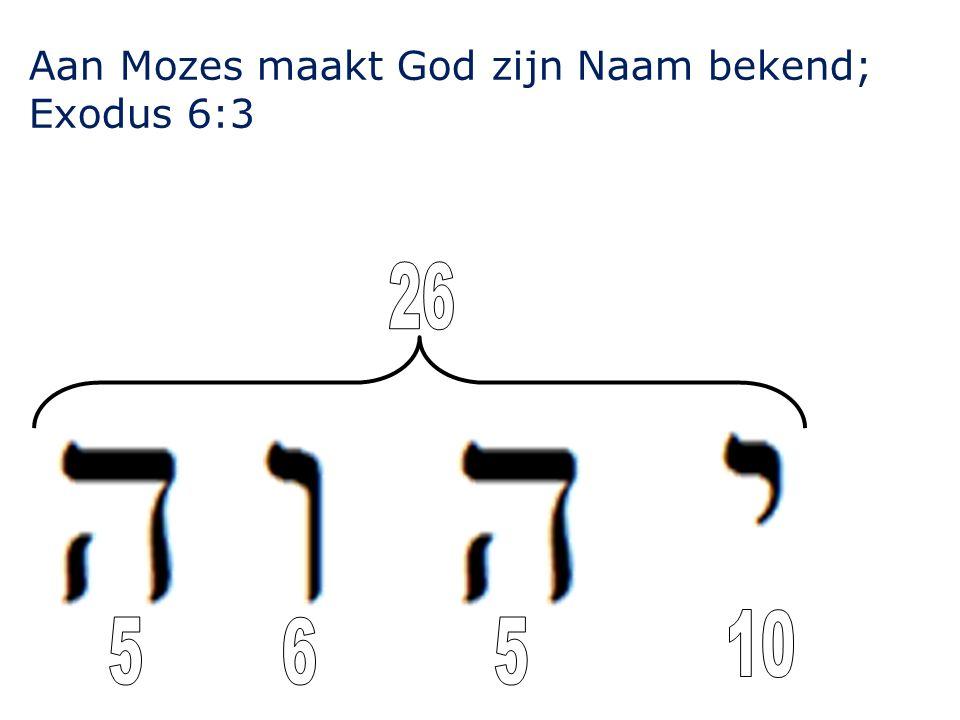 Aan Mozes maakt God zijn Naam bekend; Exodus 6:3