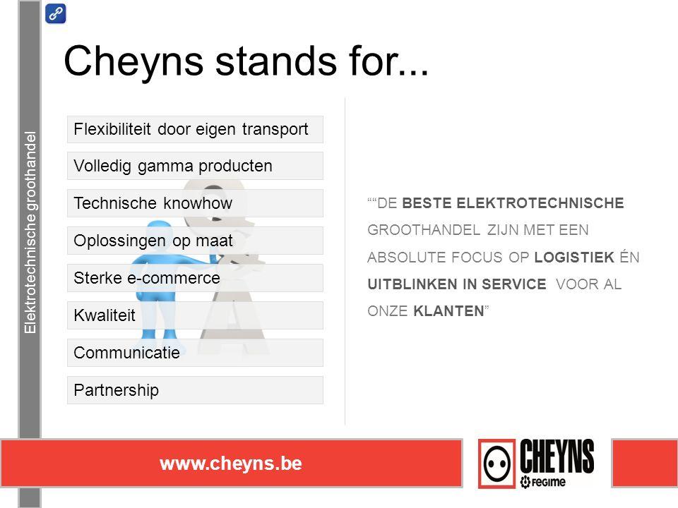 Elektrotechnische groothandel www.cheyns.be Elektrotechnische groothandel www.cheyns.be Cheyns stands for...