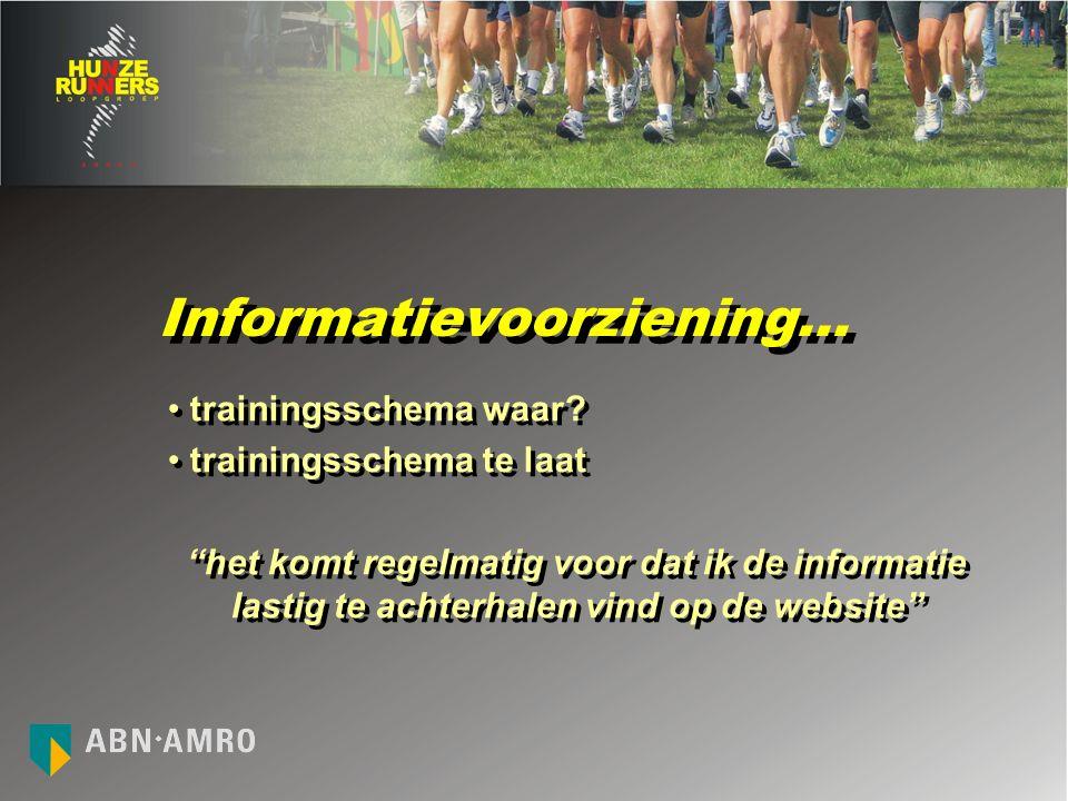 Informatievoorziening… trainingsschema waar.