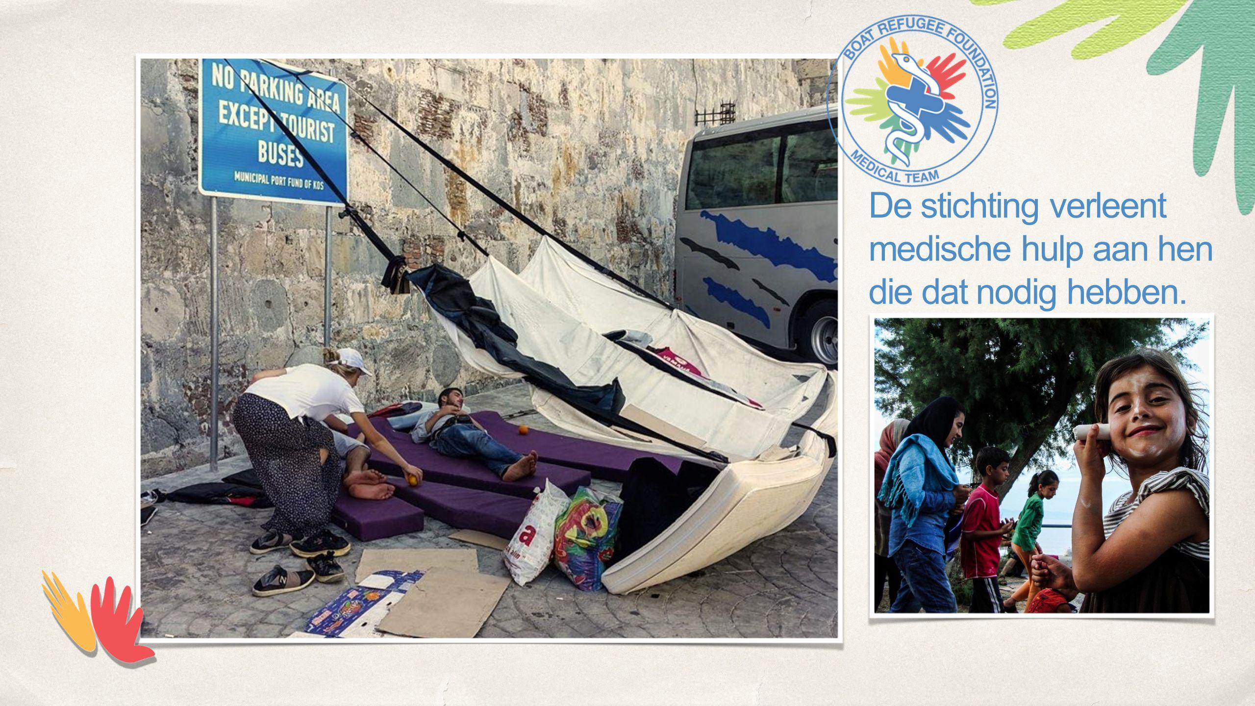 De stichting verleent medische hulp aan hen die dat nodig hebben.