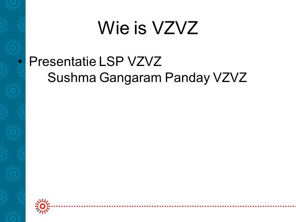 Wie is VZVZ Presentatie LSP VZVZ Sushma Gangaram Panday VZVZ