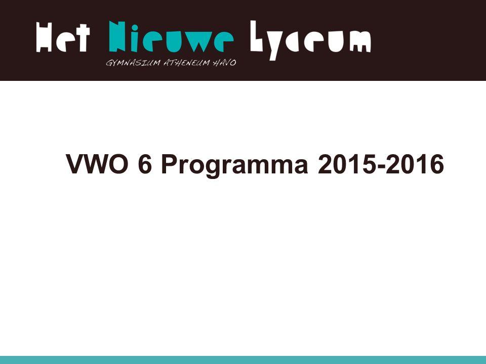 VWO 6 Programma 2015-2016