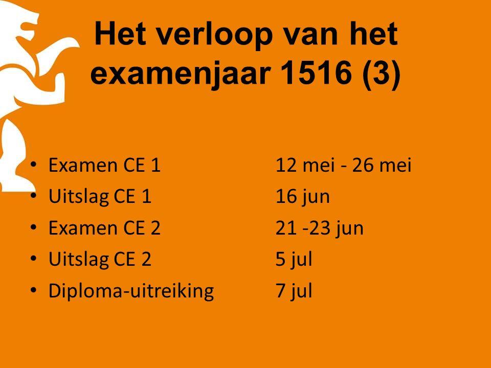 Herkansing: centraal examen 3 voor leerlingen die CE-1 en CE-2 gedeeltelijk hebben gemist.