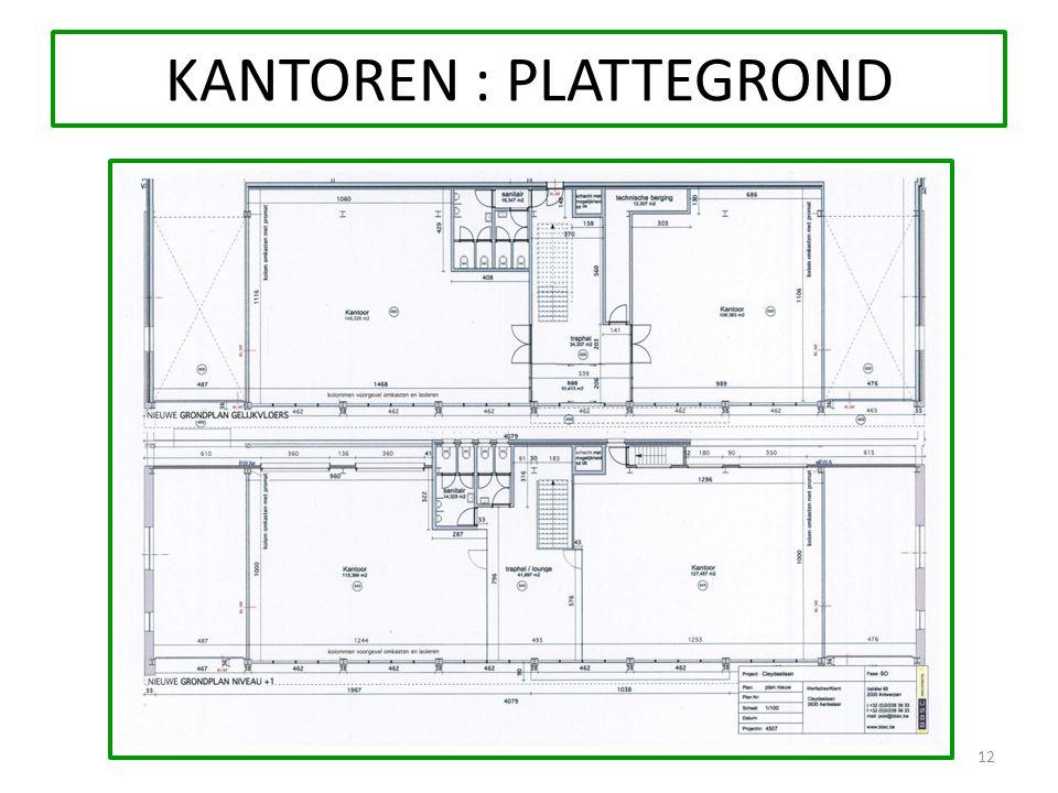 12 KANTOREN : PLATTEGROND