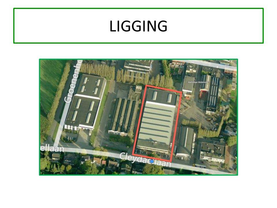 VERKOOPPRIJZEN UNIT A:1 479 m² magazijn + 233 m² kantoren = € 1.200.000 UNIT B:1 402 m² magazijn + 261 m² kantoren = € 1.160.000 UNIT C:1 051 m² magazijn = € 578.050