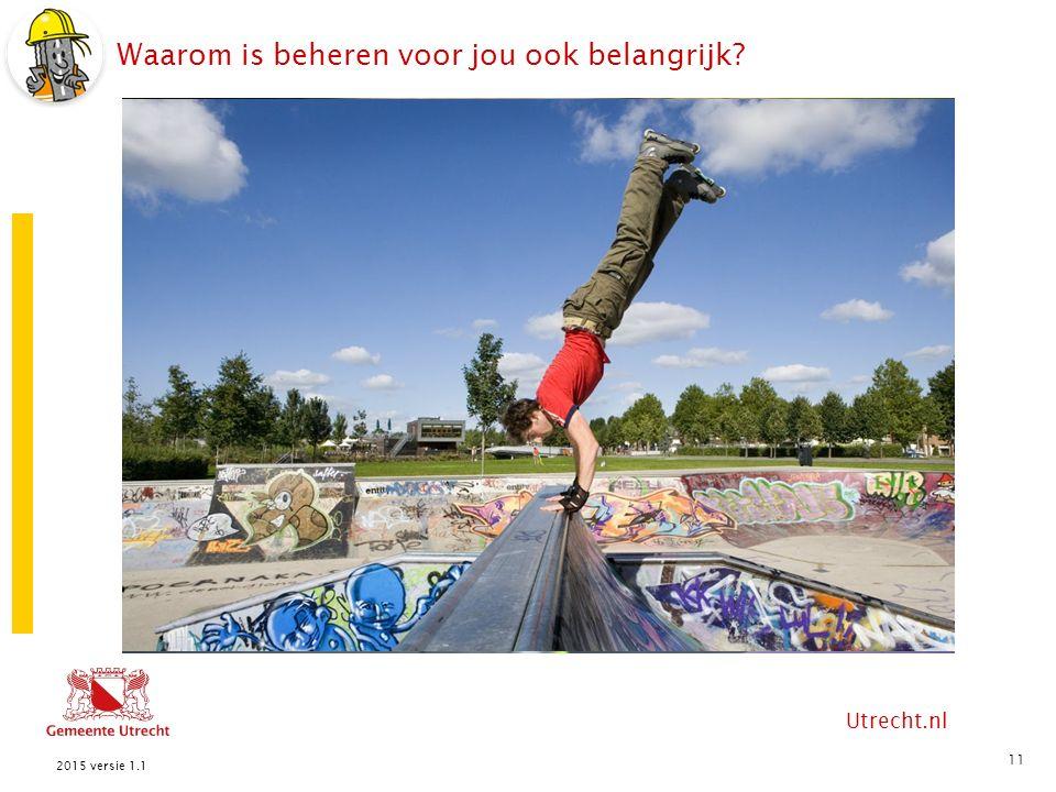 Utrecht.nl Waarom is beheren voor jou ook belangrijk? 11 2015 versie 1.1
