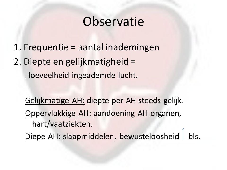 Observatie 1.Frequentie = aantal inademingen 2.