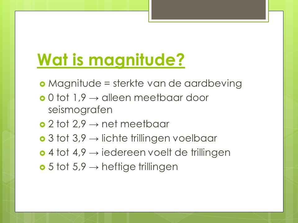 Wat is magnitude.