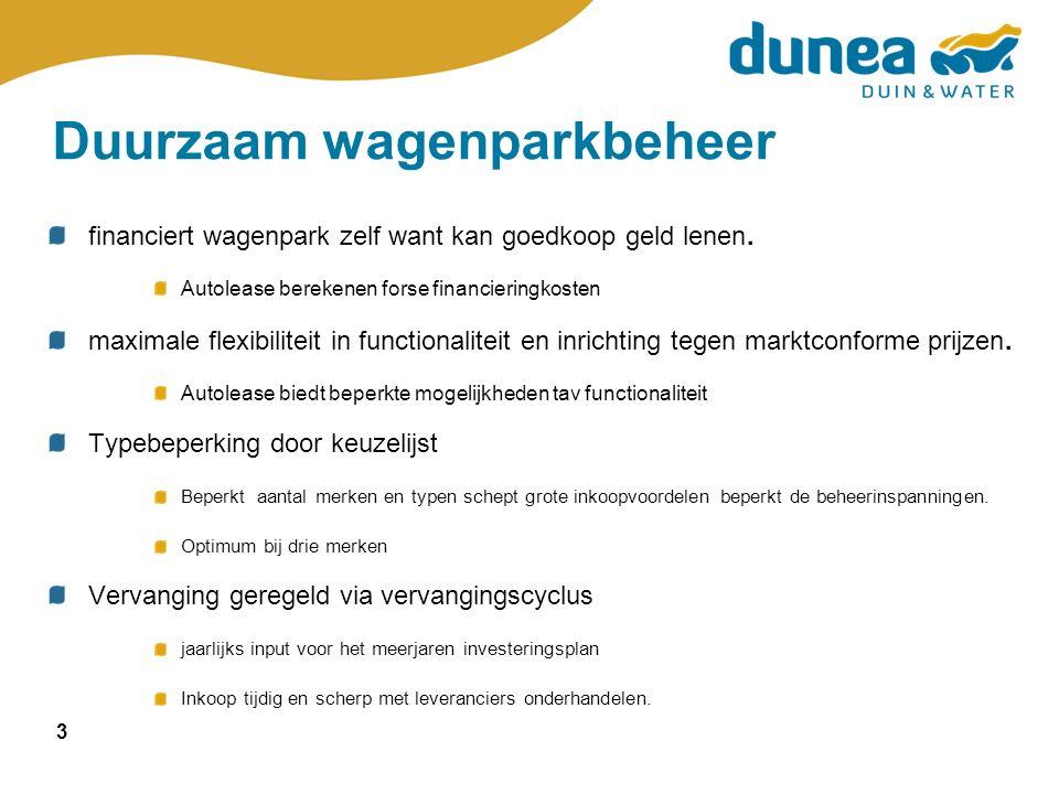 3 Duurzaam wagenparkbeheer financiert wagenpark zelf want kan goedkoop geld lenen.