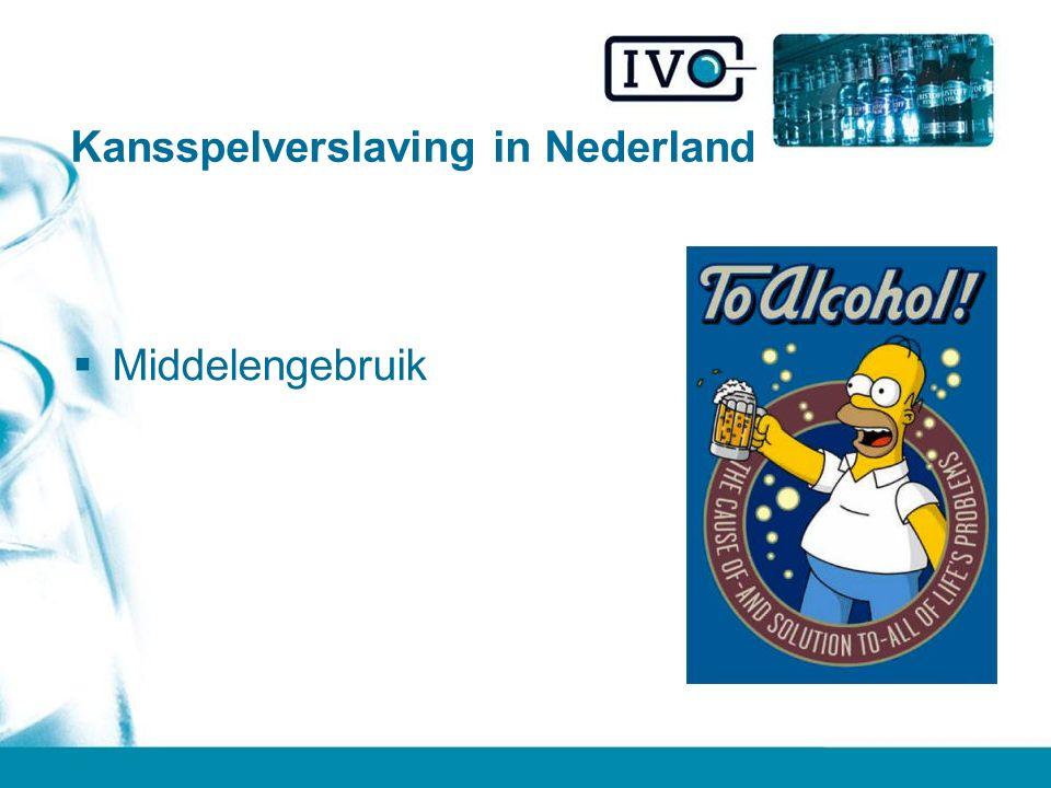 Kansspelverslaving in Nederland  Middelengebruik