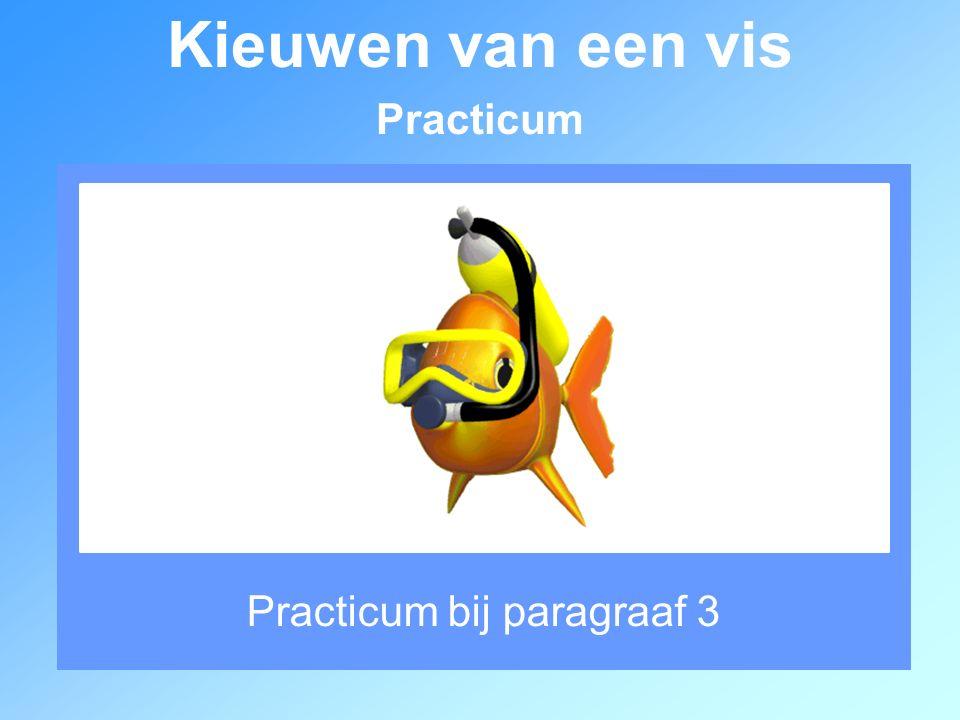 Practicum bij paragraaf 3 Kieuwen van een vis Practicum