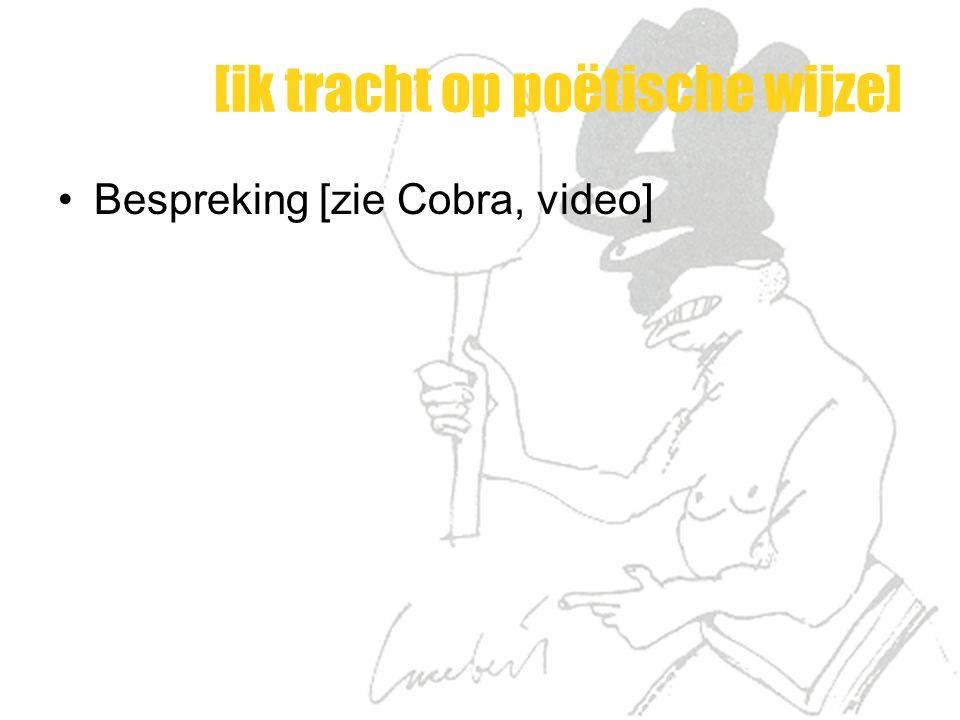 [ik tracht op poëtische wijze] Bespreking [zie Cobra, video]
