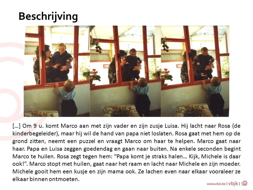 Beschrijving […] Om 9 u.komt Marco aan met zijn vader en zijn zusje Luisa.