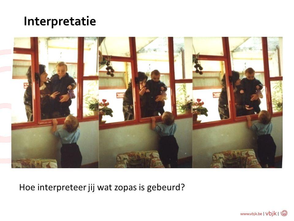 Interpretatie Hoe interpreteer jij wat zopas is gebeurd?