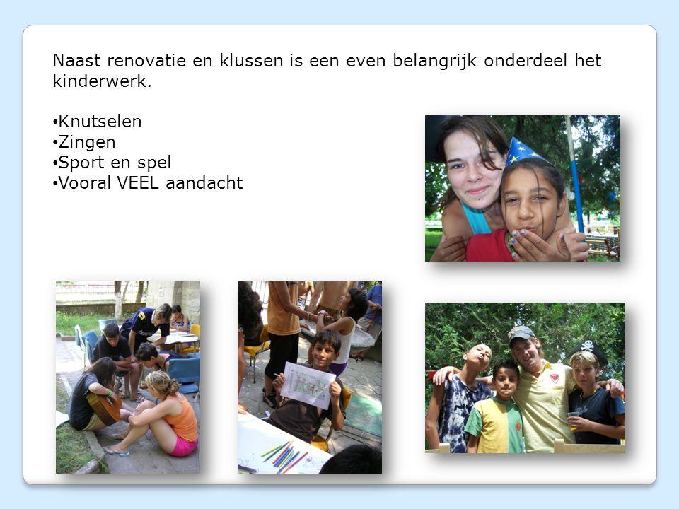 Naast renovatie en klussen is een even belangrijk onderdeel het kinderwerk.
