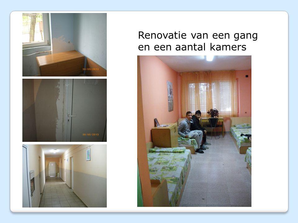 Renovatie van een gang en een aantal kamers