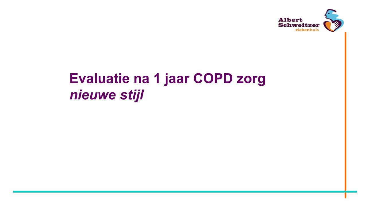 Evaluatie na 1 jaar COPD zorg nieuwe stijl