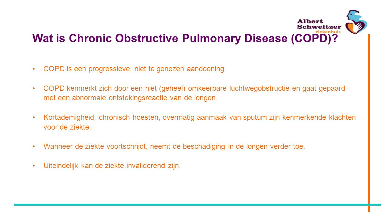 Wat is Chronic Obstructive Pulmonary Disease (COPD).