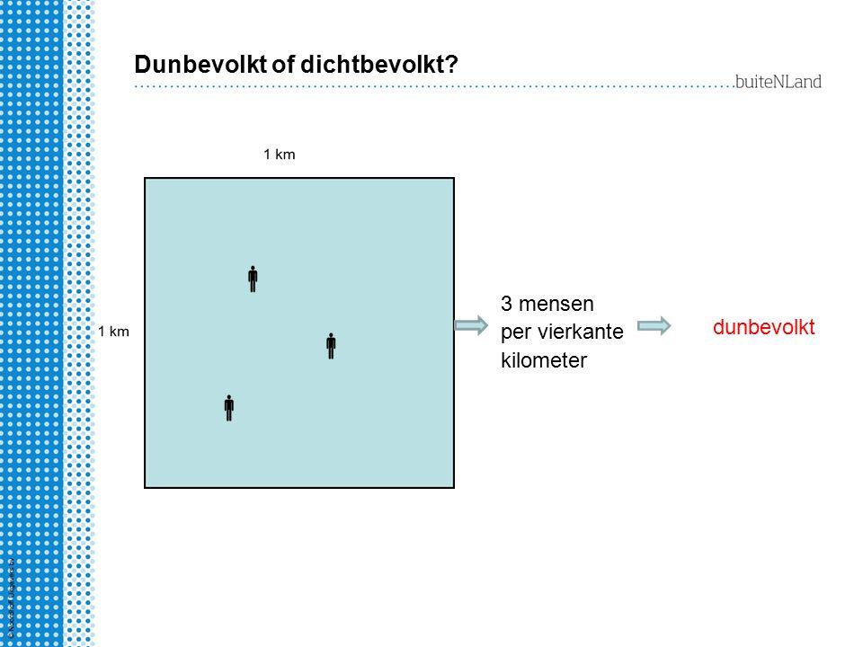 Dunbevolkt of dichtbevolkt? 3 mensen per vierkante kilometer dunbevolkt